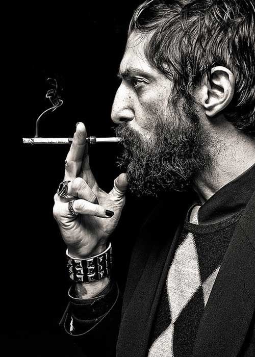 ... of hirsute hotties (giving themselves throat/lung cancer) are still  rather sexy. To see more, check out our Pinterest board Bearded Men who  smoke.